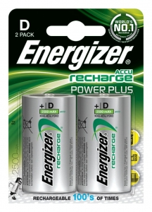 AKUMULATOR ENERGIZER POWER PLUS, D, HR20, 1, 2V, 2500MAH, 2SZT., EN-138757